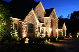 Outside Landscaping Lights as an alarm system